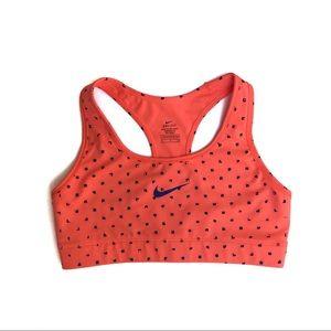 Nike Dri Fit Orange and Purple Sports Bra, Small